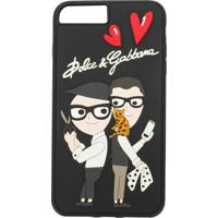Dolce & Gabbana Capa Para Iphone 7/8 Plus Com Patch - Preto