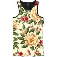 Camiseta Bsc Regata Beautiful Flowers Full Print - Masculino