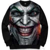 Blusa Bsc Joker Full Print - Masculino-Preto