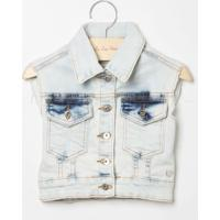 Colete Le Lis Blanc Petit Bonjour Jeans Azul Feminino