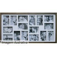 Painel Para 16 Fotos- Marrom & Branco- 43X83X3Cmkapos