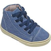 Tênis Jeans Com Recorte - Azul Azul Marinho- Oliveoliver