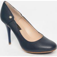 Sapato Em Couro - Azul Marinho- Salto: 7Cmjorge Bischoff