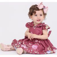 Vestido Taci Fada Baby Vinho