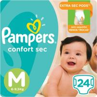 Fralda Pampers Confort Sec 24 Unidades - Unissex