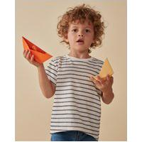 Amaro Feminino Camiseta Infantil Basic Listra, Listras Preto