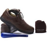 Kit Masculino Sapato+Cinto+Meia+Calçadeira Doctor Shoes - Masculino-Café