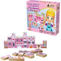 Brinquedo Educativo Pequeno Construtor Castelo Princesa Ciabrink Colorido