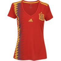 Camisa Espanha I 2018 Adidas - Feminina - Vermelho