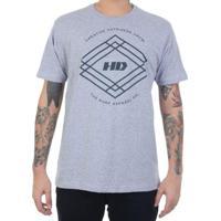 Camiseta Hd Triangle Crew Masculino - Masculino-Cinza