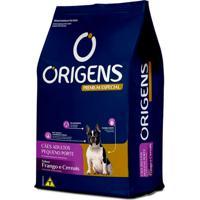 Ração Para Cães Adultos Pequeno Porte Origens Premium Especial Sabor Frango E Cereais 3Kg