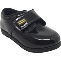 Sapato Infantil Pimpolho Verniz Masculino - Masculino-Preto