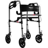 Andador De Alumínio Com 4 Rodas E Assento Bc1550 Mercur