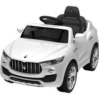 Carrinho Elétrico Xalingo Maserati 6V Com Controle Remoto Branco