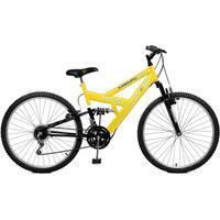Bicicleta Master Bike Aro 26 Masculina Kanguru Style 21 Marchas Amarelo