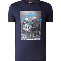 Camiseta Hugo Boss Masculina Orange Hungry Birds Azul Marinho