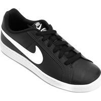 Tênis Couro Nike Court Royale Masculino - Masculino-Preto+Branco
