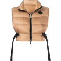 Moncler Cropped Padded Gilet - Marrom