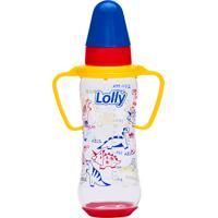 Mamadeira Tricolor 250Ml Bico Orto Lolly Baby Azul E Vermelho