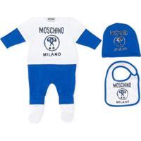 Moschino Kids Pijama Com 3 Peças - Azul