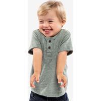 Camiseta Henley Verde Niños 500065
