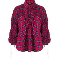 Dsquared2 Camisa Com Estampa Xadrez - Vermelho