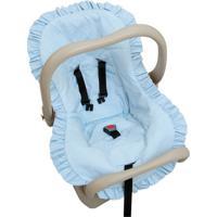 Capa Para Bebê Conforto Em Percal Azul - Biramar Baby 33358-2369 Capa Bebe Conforto - Percal Azul
