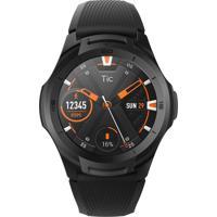 Relógio Ticwatch Smartwatch Masculino E Feminino Ticwatch S2 Pxpx Caixa Em Poliamida Preta Pulseira Silicone Preta