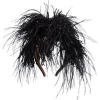 Loewe Headband Com Plumas - Preto