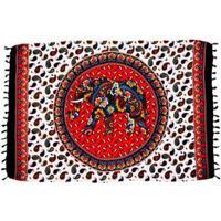 Canga Shopping Bali Mandala Elefante Cashmere - Feminino-Terracota