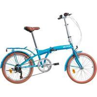 Bicicleta Dobrável Blitz City Aro 20 Shimano 6V - Unissex