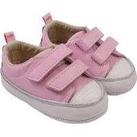 Tênis Infantil Couro Catz Calçados Noody Velcro - Unissex-Rosa