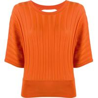 Pinko Blusa De Tricô Com Abertura Posterior - Laranja