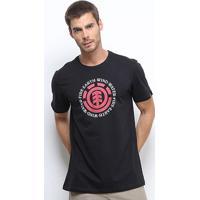 Camiseta Element Seal Masculina - Masculino-Preto