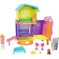 Boneca Polly Pocket Clubhouse Com Acessórios Mattel - Feminino-Rosa
