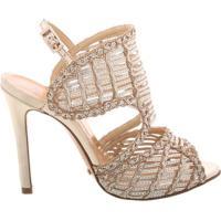 Sandália Texture Stiletto Platina | Schutz