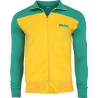 Jaqueta Do Brasil 2018 Bicolor - Masculina - Amarelo/Verde