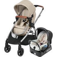 Carrinho De Bebê Travel System Maxi Cosi Anna Preto/Bege Com Bebê Conforto