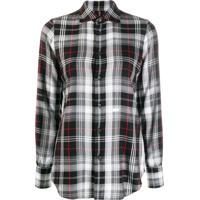 Dsquared2 Camisa Xadrez Clássica - Preto