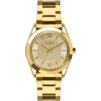 Relógio Euro Metal Frame Feminino - Feminino-Dourado