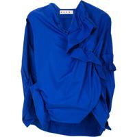 Marni Blusa Com Franzido - Azul