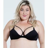 Sutiã Feminino Push Up Strappy Plus Size Marisa