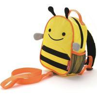 Mochila Infantil Skip Hop C/ Cinto Abelha - Unissex-Amarelo+Preto