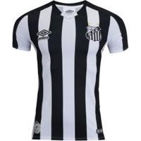 Camisa Do Santos Ii 2019 Umbro - Masculina - Preto/Branco