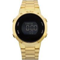 Relógio Euro Digital Fashion Fit Feminino - Feminino-Dourado
