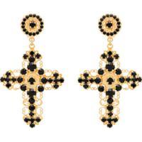 Dolce & Gabbana Par De Brincos Com Cristais - Preto