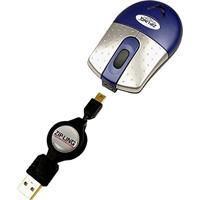 Mini-Mouse Óptico Com Cabo Retrátil, Ziplinq, Outros Acessórios Para Notebooks