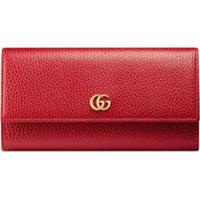 Gucci Carteira Continental De Couro - Vermelho