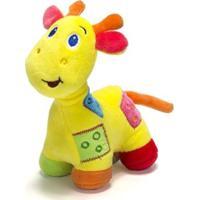 Chocalho De Pelucia Unik Toys Girafa Amarela