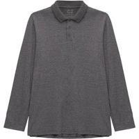 Camisa Polo Manga Longa Super Masculina Cinza